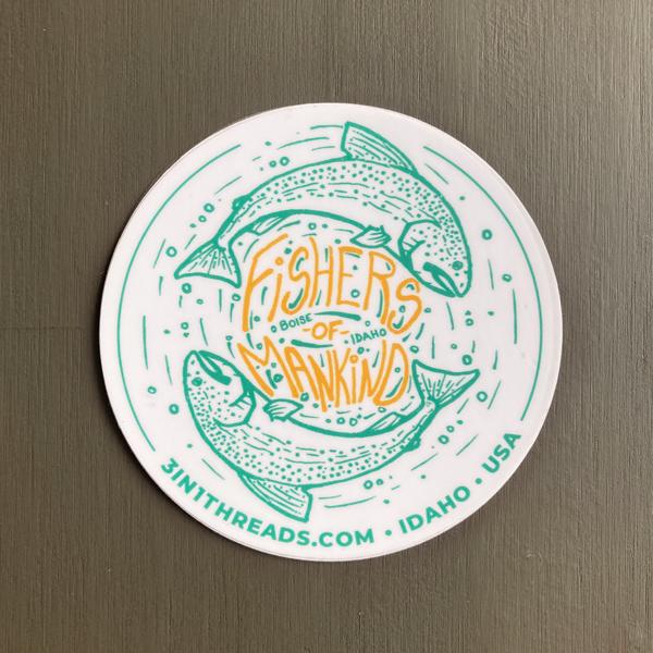 3IN1 Threads Fishers of Mankind Fishing Custom Sticker Design