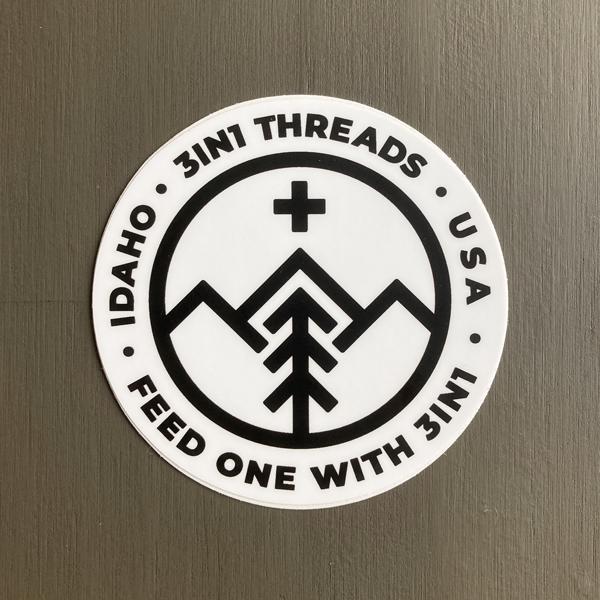 3IN1 Threads Custom Circle Sticker Design