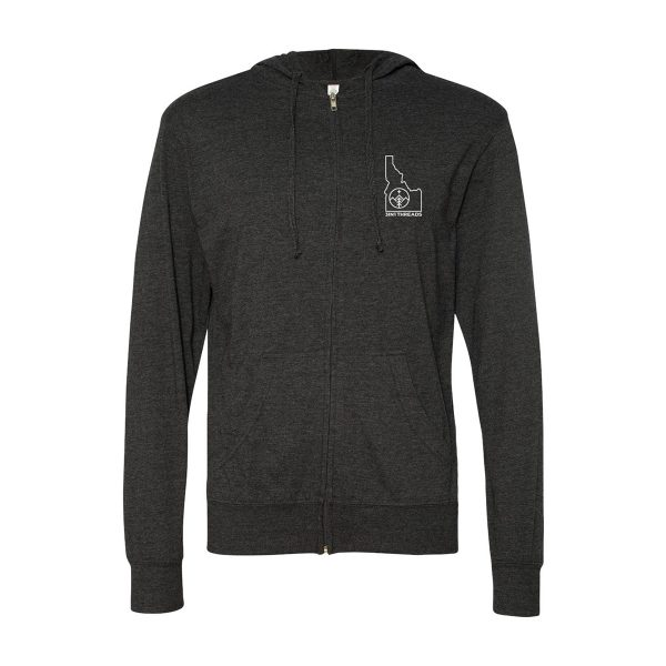 3IN1 Threads Lightweight Minimalist full-zip hoodie - showing front