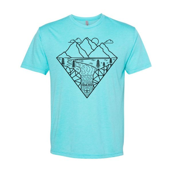 3IN1 Threads Outdoor custom t shirt - Tahiti Blue